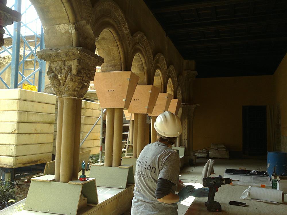 Se Inicia Lasegunda Fase De La Restauración Del Claustro De La Catedral De Tudela Con Una Inversión De 600.000 Euros