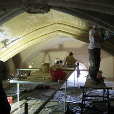 Trabajos De Restauración De Las Pinturas Murales