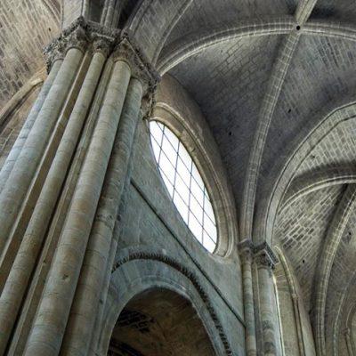 Vista De Las Bóvedas En El Crucero De La Catedral