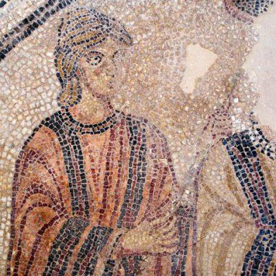Detalle Del Mosaico De Los Esponsales De Attis