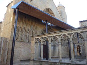 Presentada La Portada De Santa María De Olite Tras Su Restauración