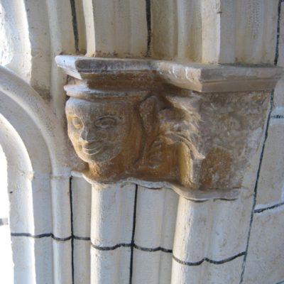 Detalle De Los Capiteles, Con Formas Humanas Y Vegetales