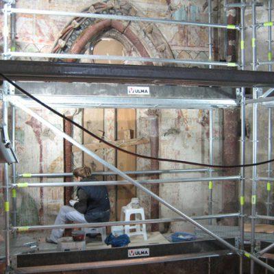 Nervios, Bóvedas Y Clave En Pleno Proceso De Recuperación De Las Pinturas