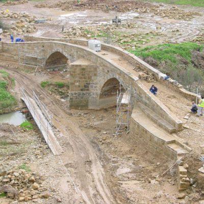 Vista Del Puente Durante Los Trabajos