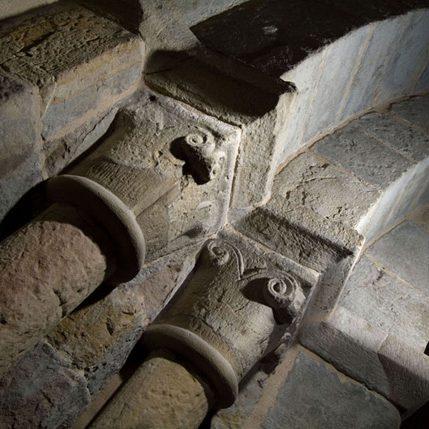 Capiteles y arquivoltas de la portada norte